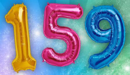Folienballon Riesenzahlen