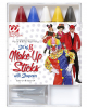 5 Colourful Make-up Pencils With Sharpener