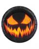 Creepy Pumpkin Pappteller 6 St.
