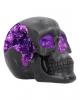 Geode Skull With Violet Gothic Glitter