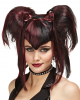 Gothic Fairy Wig Black Red