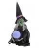 Halloween Hexe mit Wahrsagekugel 58cm