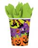 Halloween Pappbecher mit Hexe 8 St.