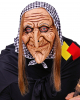Witch Mask With Headscarf & Hair