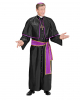 Kardinal Kostüm Schwarz Violett M