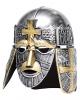 Kreuzritter Helm silber