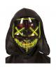 Glowing LED Guy Fawkes Mask Black