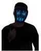 Leuchtende LED Maske Blau - Weiß