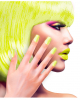 Neon Airbrush Fingernails Neon Yellow