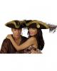 Brauner Piratenhut mit Federn