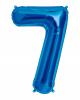 Foil balloon number 7 blue