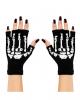 Fingerless Gloves With Skeleton Motif