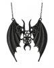 Schwarze Gothic Maleficent Halskette