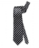Schwarze Krawatte mit weißen Punkten