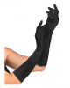Satin Gloves Black