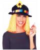 Clown Hut mit Haaren & Spritzblume