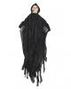 Schwarzer Grim Reaper Hängefigur mit LED Augen