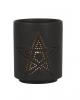 Schwarzer Pentagramm Teelichthalter