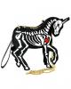 Skelett Einhorn Clutch Umhängetasche