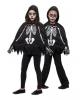 Skeleton Kids Poncho With Gloves