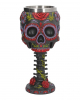 Sugar Skull Goblet With Flower Ornament