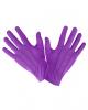 Violette Kostümhandschuhe