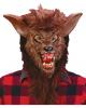 Werewolf Mask Brown with realistic teeth