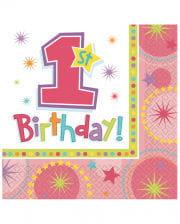 1st Birthday Napkins