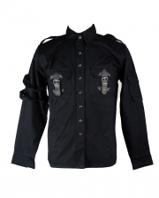 Black Gothic Shirt With Straps & Buckles