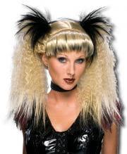 Gothic Punk Wig Blond / Black