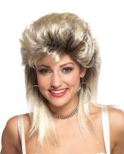 80er Jahre Rocker Braut Perücke Blond