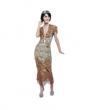20's Gatsby Sequin Dress Gold