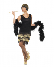 20s Flapper Ladies Costume With Fringes