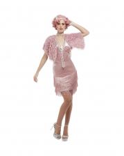 20`s Pink Flapper Charleston Kostüm