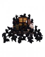 36 Schwarze Katzen mit Mystic Gothic Display