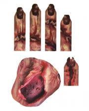 3D Zombie Handtattoo mit Wunden & Maden