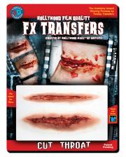 3D FX Transfer Tattoo Kehlkopf-Schnitt