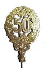 Anniversary number 50 gold