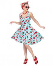 50er Jahre Rock'n Roll Kleid mit Petticoat