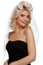 Flower Hairband With Veil