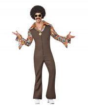 70er Jahre Groovy Disco Jumpsuit XL