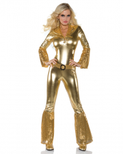 70´s Disco Diva Jumpsuit Gold
