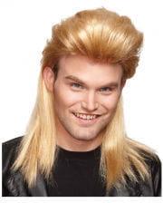 80er Jahre Vokuhila Perücke blond
