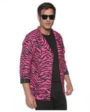 80s Zebra Blazer Pink