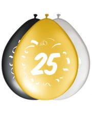 8er Pack Luftballons Zahl 25