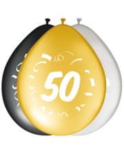 8er Pack Luftballons Zahl 50