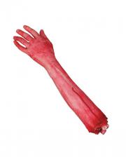 Abgehackter blutiger rechter Arm