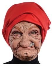 Alte Oma Maske mit Kopftuch