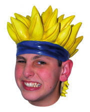 Anime wig with spiky yellow