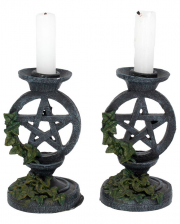 Antique Pentagram Candlestick 2 Pcs.